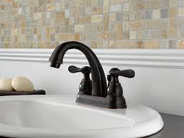 delta windemere b2596lf ob two handle centerset bathroom faucet