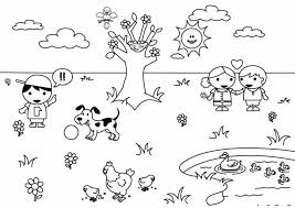 Cute Free Spring Coloring Pages