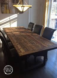 table en bois de cuisine table de cuisine en bois de grange l56 on amazing home