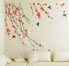 Flower Wall Decals Birds Sticker