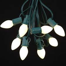 white ceramic c7 outdoor string lights