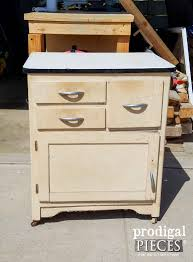 What Is A Hoosier Cabinet by Enamel Cabinet Makeover Cottage Style Prodigal Pieces
