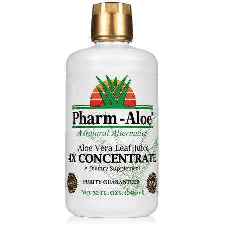 Pharm-Aloe Aloe Vera Leaf Juice Supplement - 4X Concentrate, 32oz