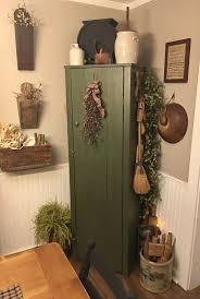 My Primitive Farmhouse Dining Room Corner Chimney Cabinet