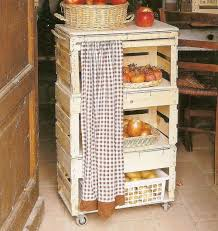Clever And Very Thrifty Making Kitchen Storage Out Of Produce Crates Love That Wooden CratesBarnwood IdeasDear