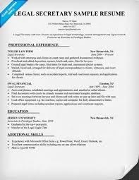 Legal Secretary Resume Objective Examples