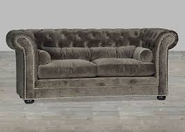 velvet sofa chesterfield style silver button tufted