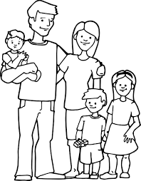 Family Kids Coloring Page Throughout Pages