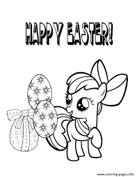 My Little Pony Easter Egg Coloring Pages