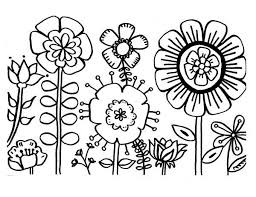 Flowers Coloring Page 19 Flower Sheets 1241