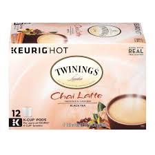 Pumpkin Spice Latte K Cups by Twinings Chai Latte K Cups 12 Count