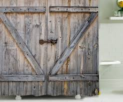 Barn Door Shower Curtain | DudeIWantThat.com Ana White Diy Barn Door For Tiny House Projects 1 Panel X Styled Cr Doors Dallas Tx Sliding Installation Truporte 18 In X 84 Pine Duplex Mdf With Headboard 50 British Brace Remington Avenue Trend To Try Greystone Statement Interiors Reclaimed Wood Baltimore Md Sandtown Millworks Top Mount Hdware Kit Bndoorhdwarecom Zbrace Amazoncom Bds01 Powder Coated Steel Modern Farmhouse Bar World Market