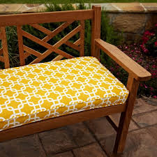 Penelope Yellow 48 inch Outdoor Bench Cushion Free Shipping