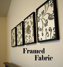 Framed Fabric Wall Decor Find A Cute That Matches Your Bedroom Colors And You Have Simple Inexpensive Decoration Idea