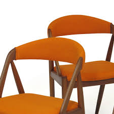 Kai Kristiansen Curved Back Dining Chairs In Orange Wool - Set Of 6 ... Saddle Leather Ding Chair Garza Marfa Jupiter White And Orange Plastic Modern Chairs Set Of 2 By Black Metal Cafe Fniture Buy Eiffel Inspired White Orange With Legs Grand Tuscany Total Sizes Wd325xh36 Patio Urban Kitchen Shop Asbury With Chromed Velvet Vivian Of World Market Industrial Design Slat Back Products Flash Indoor Outdoor Table 4 Stack