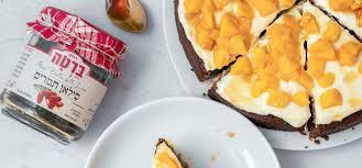rezept schoko nuss kuchen mit mango topping israel