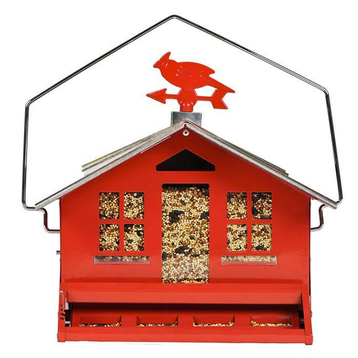 "Perky Pet Squirrel Proof Feeder - Red, 14"" x 11.3"""