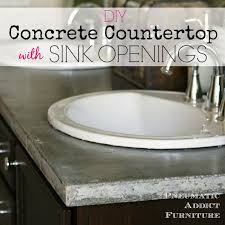 Install Overmount Bathroom Sink by Pneumatic Addict Diy Concrete Countertop With Sink Openings