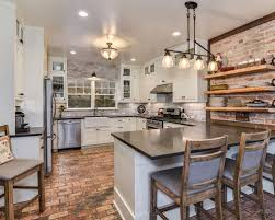 best 20 brick floor kitchen ideas remodeling pictures houzz