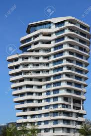 100 Marco Polo Apartments HAMBURG GERMANY AUGUST 28 2014 Tower Futuristic