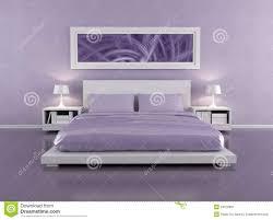 lila schlafzimmer stock abbildung illustration