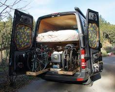 Amazing Mercedes Sprint Van Conversion Carries 4 Bikes Inside Plus Kit Has A