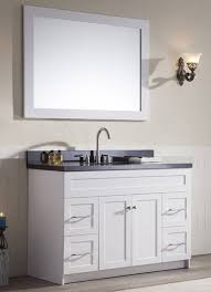 ace 49 inch transitional single sink bathroom vanity set in white