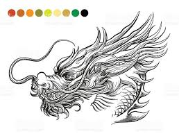 Dragon Coloring Page Template Royalty Free Stock Vector Art