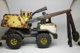 Rusty Vintage Tonka Excavator Truck | Olde Good Things