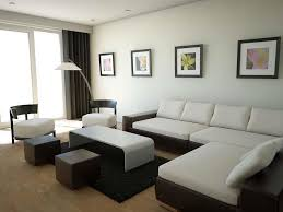 small living room design ideas white and brown sectional sofas for