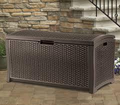 Suncast Gs3000 Outdoor Storage Shed by Suncast Resin Wicker Deck Box Dbw7300 Sydney Garden Products