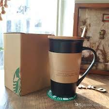 New Starbucks Write It Ceramic Coffee Milk Mug 355ml Classic Message V Coffe Cup Black White Commemorative Edition With Pen Lid Coaste Glass Mugs