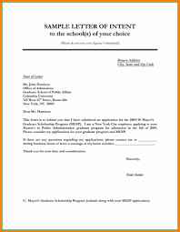 Letter Of Intent Format Examples Best Graduate School Letter Intent