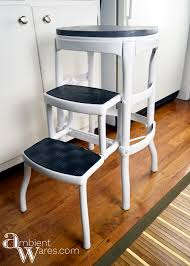 Cosco Counter Chair Step Stool by Vintage Cosco Step Stool Gets A Modern Farmhouse Styled Makeover