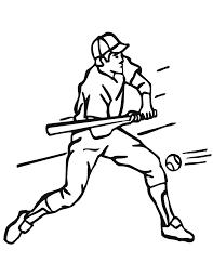 Baseball Printable Bat Coloring Pages