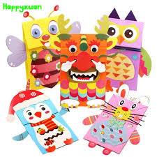 2018 Happyxuan Cartoon Animal Paper Bag Hand Puppet Dolls Diy Children Creative Handmade Crafts Rabbit Owl Toy Party Gift From Chenlong818102