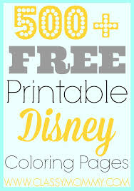 Free Printables 500 Disney Coloring Pages