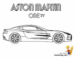Coloring Download Aston Martin Pages Ice Cool Car Cars Dodge Free Bmw