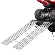 Black Widow Aluminum Tri-Fold Extra-Wide ATV Loading Ramp - 71