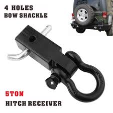Black Recovery Trailer Hitch Shackle Bracket 2