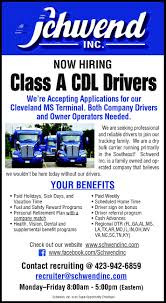 Class A CDL Drivers, Schwend Inc, Jasper, TN Cdl Truck Driving Schools In Florida Jobs Gezginturknet Heartland Express Tampa Best Image Kusaboshicom Jrc Transportation Driver Youtube Flatbed Cypress Lines Inc Massachusetts Cdl Local In Ma Can A Trucker Earn Over 100k Uckerstraing Mathis Sons Septic Orlando Fl Resume Templates Download Class B Cdl Driver Jobs Panama City Florida Jasko Enterprises Trucking Companies Northwest Indiana Craigslist