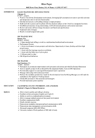 HR Trainee Resume Samples | Velvet Jobs