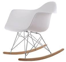 chaise a bascule eames chaise a bascule rétro lounge loisir inspiration eames blanc