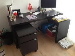 Ikea Desk Tops Uk by For Sale Ikea Black Desk And Draw Set English Forum Switzerland