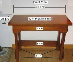 Building A Simple Wood Desk by 32 Best Free Desk Plans Images On Pinterest Desk Plans