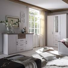 luca elegante schlafzimmer kommode im landhausstil stilvolles ausdrucksstarkes sideboard in pinie weiß trüffel für ihr schlafzimmer 150 x 90 x