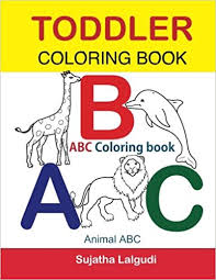 Toddler Coloring Book ABC Coloring Book Animal Abc Book