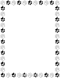 Printable Black And White Paw Print Border Use The In Microsoft Word Or Other