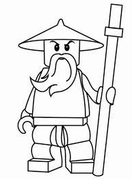 Sensei Wu Ninjago Coloring Pages For Kids