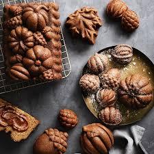 Nordic Ware Pumpkin Loaf Pan by Nordic Ware Harvest Bites Cakelet Pan Williams Sonoma